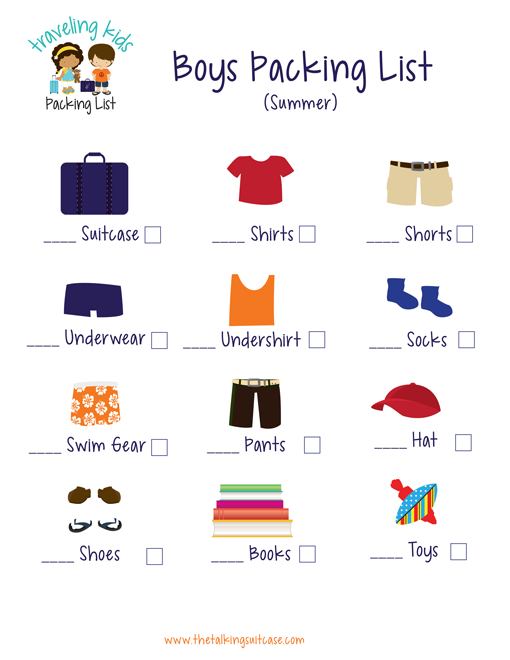 Kids Packing List Free Printable