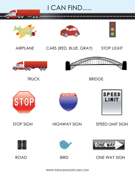 Printable travel games for kids i can find let kids find each of these items on the road print the pdf version here sciox Images