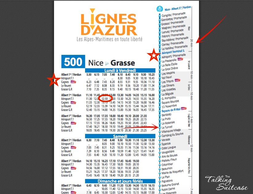 How to read a French bus schedule 1