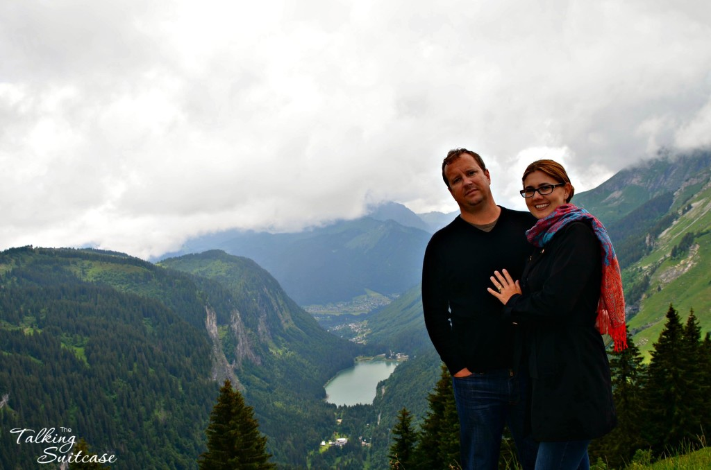 Derrick and I on the mountaintop in Chatel, France