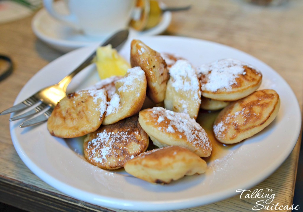 Poffertjes or little pancakes in Amsterdam