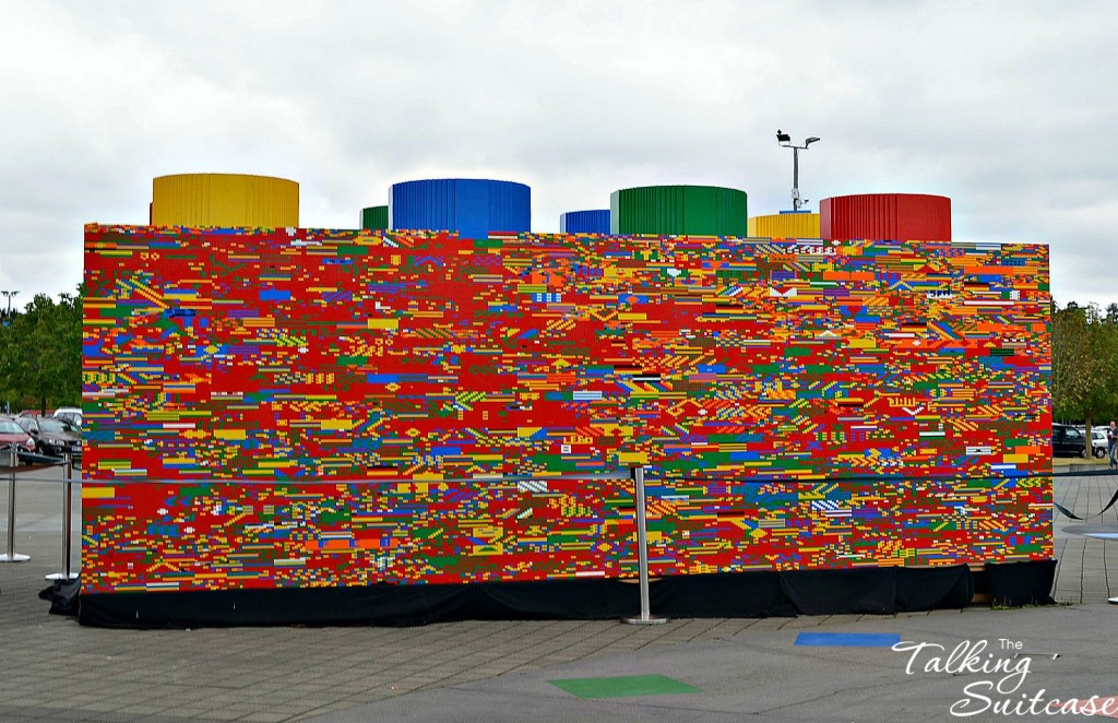 Huge Lego Brick at the LEGOLAND Germany entrance