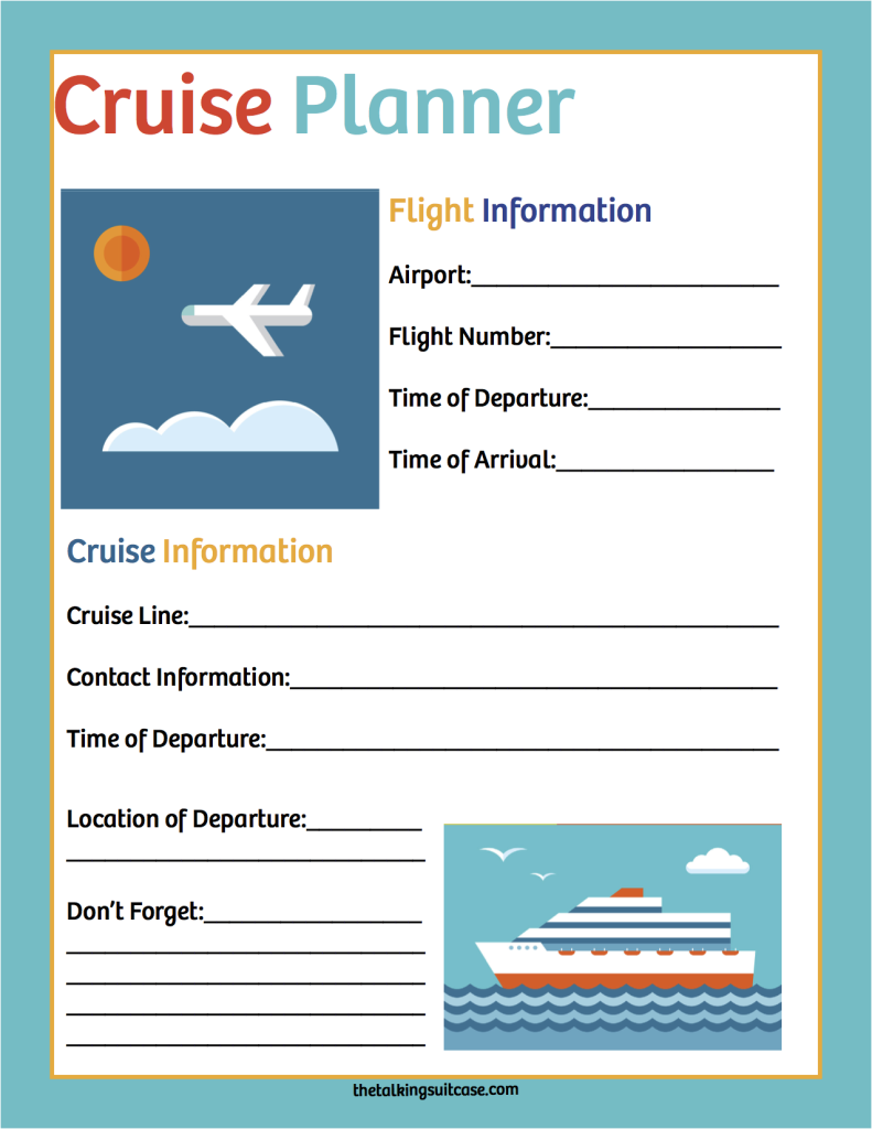 Cruise Planner with cruise and flight information