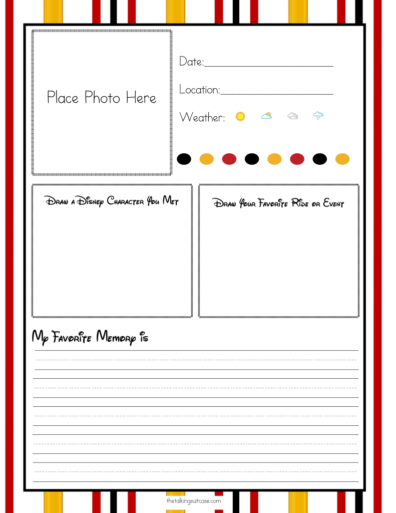... For Your Disney Vacation - Free Printable Disney Vacation Planner