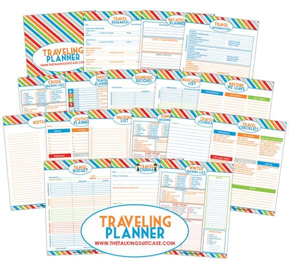 image about Travel Planner Printable named Get hold of Ready For Your Subsequent Holiday With Our Free of charge Drive