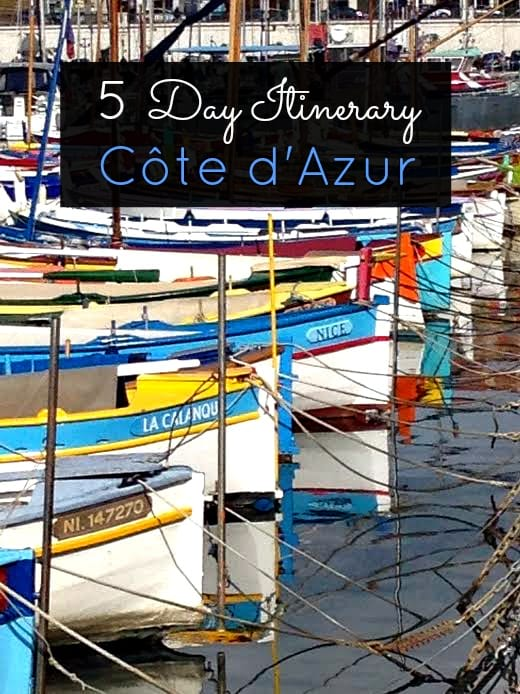 Cote d'Azur Itinerary